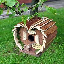 Wooden Hanging Garden Bird House / Hotel Nesting Box Feeding Station New