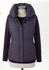 Coldwater Creek Women's MEDIUM Puffy Collar Print Vest Jacket Warm