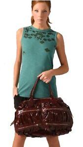 Maria Bonita Extra ღ Leather Zip Pockets Bag ღ Black Gold ღ New $785 ღ Overnight