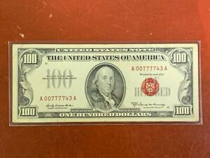 1966 $100 RED SEAL US FR 1551 Note -NICE  ONE HUNDRED
