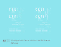 K4 N Decals Chicago and Eastern Illinois C&EI Boxcar White Roman Font