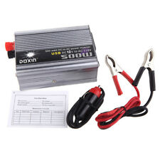 Corriente 12V a 220V 500W USB Cargador convertidor Inversor energía auto Coche