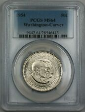 1954 Washington-Carver Silver Half Dollar 50c Commemorative Coin PCGS MS-64