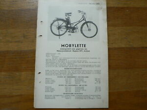 MOBYLETTE 1949 ONWARDS SERVICE AND REPAIR GUIDE MOPED MOFA ARNHEM