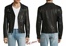 NWT BLK DNM Racer Genuine Leather Motorcycle Mens Jacket XL Diesel All Saints