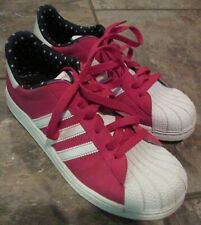 Adidas Originals Superstar 2J White/Black/Purple Ladies Sneakers G96117 Size 6