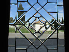 ~ ANTIQUE FULL BEVELED GLASS DOOR ZINC ~ 35.5 x 80 ~ ARCHITECTURAL SALVAGE ~