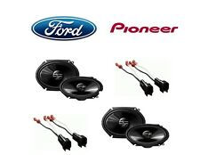 NEW PIONEER F-150 250 350 TRUCK STEREO 2-WAY FRONT AND REAR SPEAKERS W HARNESS