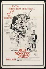 MAD MONSTER PARTY one sheet movie poster 27x41 BORIS KARLOFF FRANK FRAZETTA 1968