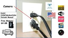 Hidden WIFI Spy Camera 1080 HD In Wall AC Outlet With 64G Memory Card