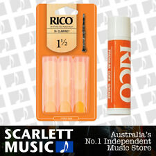 Rico BB Clarinet Reeds Strength 1 1/2 3-pack Number 1.5 X 3 With Cork Grease