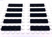 Lego Part 243126 1x4 Flat Tile 2431 Black X 10