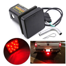 "Square 50cm 2"" Trailer Hitch Tow Bar Cover 12LED Brake Tail Light Lamp for Truck"