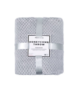 supersoft honeycomb throw/blanket 3 colours to choose