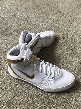 New Nike Mens Freek Wrestling Shoe White-Gold (316403-100) size 8.5