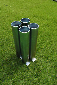 Football Goal Sockets - For 76mm Round Steel Goals - Set of 4 - Free P&P