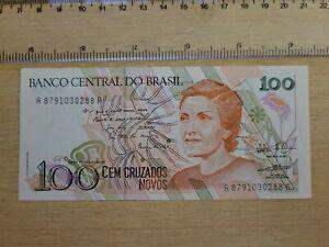 Brazil 100  cruzados novos  UNC  P-220b  1989 Banknote Currency Money  091521-4