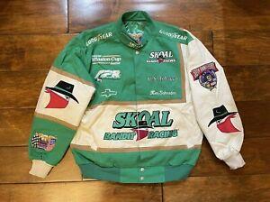 Ken Schrader #33 Skoal Bandit Racing Race Jacket Mens Size Large NASCAR 50th Ann