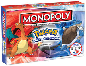 Monopoly Pokemon Edition with 6 Metal Tokens for family kids Game Sydney Stocks