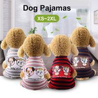 Dog Cotton Pajamas Sleepwear Small Dog Soft Clothes Pet Jumpsuit Coat Apparel