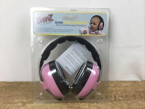 Banz Mini Earmuffs: Protective Earmuffs for Babies Banz Carewear Pink 3 mo + New