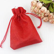 25 sacchetti di Juta, ROSSI,  bomboniere confetti compleanni matrimonio REGALI