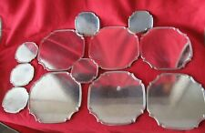 VINTAGE 6 VINERS SILVER PLATE PLACE MATS WITH 6 MATCHING COASTERS
