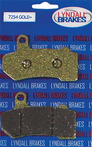 LYNDALL BRAKES 2008-2013 Harley-Davidson FLHR Road King GOLD PLUS BRAKE PADS 725