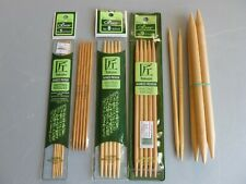 New ListingLot of Clover Takumi Double Pointed Dp Knitting Needles Sizes 1 5 8 9 15 Bamboo