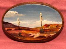 Southwestern Painted Scenery on Plaster Miniature Wall Art Deco