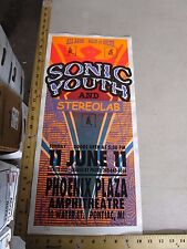 MB/ Rock Roll Concert Poster Sonic Youth Mark Arminski Signed
