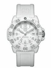 Luminox Navy Seal Swiss Quartz White Dial, Silicon Strap Round Watch  3057.WO