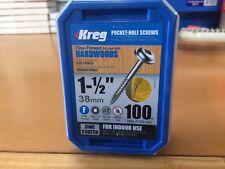 "Kreg Pocket Hole Screws - 1-1/2"", #7 Fine, Washer Head, 100 Pkt"