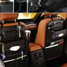 1x Car Seat Back Bag Organizer Travel Storage Holder Multi-Pocket PU Leather