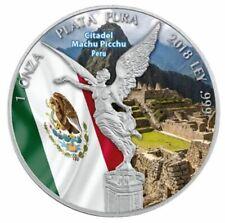 Mexico ~ 1 Onza 2018 ~ Colored ~ Citadel Machu Picchu Peru ~ 1 OZ Silver 0.999