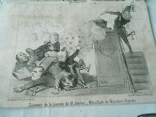 HD 2798 Daumier 1851 - Souvenir de the day of the 18 Janvier Shooting
