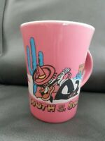 Vintage South Of The Border Coffee Mug Cup, Pink, Travel Souvenir