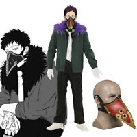 My Hero Academia Kai Chisaki Overhaul Outfit+Mask Cosplay Costume Full Uniform