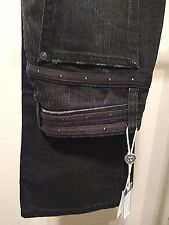 Joes Jeans Sz 25 Black Distressed Provocatuer Connor Slim Boot Cut New with Tags