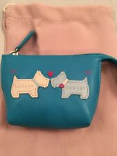 Radley leather Coin Purse Hello Blue 100% Leather