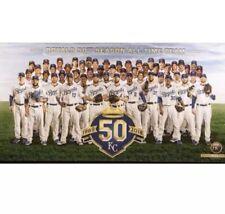 Kansas City Royals 50th Anniversary Canvas Print Perez Hosmer Brett SGA 9/15/18