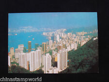 old HK postcard,surrounding the victoria harbour,are skyscrapers of HK