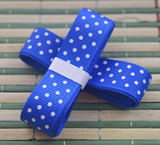"Blue 3yds 5/8"" (15 mm)Printed Party Polka Dot Grosgrain Ribbon*"