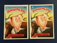 1986 Topps #196a DANGLING DOLLY  196b SURREAL NEAL Lot 2 Garbage Pail Kids GPK
