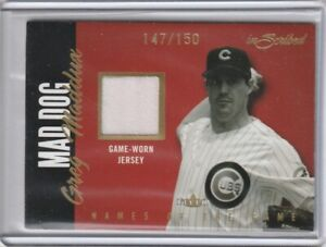 2004 Fleer Inscribed Names of the Game Material GOLD Greg Maddux 147/150 Cubs