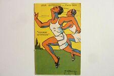 """CPA - JEUX OLYMPIQUES PARIS 1924 -"""" COURSE DE VITESSE"""" Réf/ E /07"""