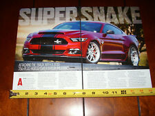 2016 SHELBY SUPER SNAKE 750 H.P. MUSTANG - ORIGINAL ARTICLE