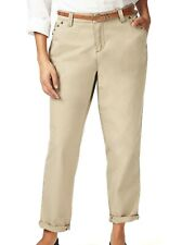 M&S Beige Chino Trousers Size 18R With Belt NEW