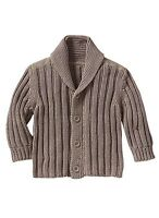 GAP Baby / Toddler Boy 12-18 Months NWT Tan / Brown Sweater / Shawl Cardigan