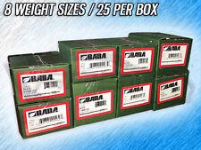 BADA ALFE AL COATED STEEL WHEEL WEIGHTS - .25 - 2.00 OZ. - 200 TOTAL WEIGHTS
